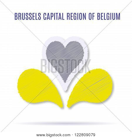 New Logo of Brussels Capital Region of Belgium. Current logo adopted in 2015. Vector illustration with flat graphic design element with embroidery effect.