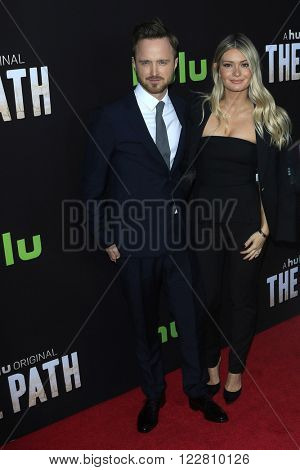 LOS ANGELES - MAR 21: Lauren Persekian, Aaron Pau at the Premiere of 'The Path' at Arclight Hollywood on March 21, 2016 in Los Angeles, California