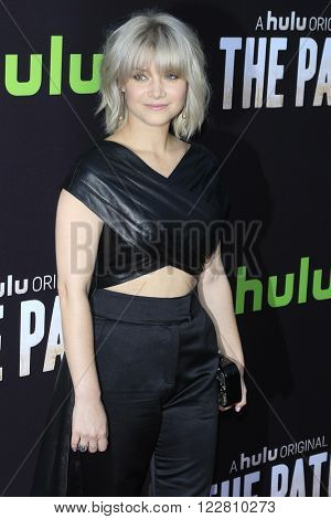 LOS ANGELES - MAR 21: Sarah Jones at the Premiere of 'The Path' at Arclight Hollywood on March 21, 2016 in Los Angeles, California