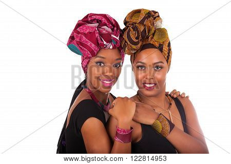 Young Beautiful African Woman Wearing A Traditional Headscarf