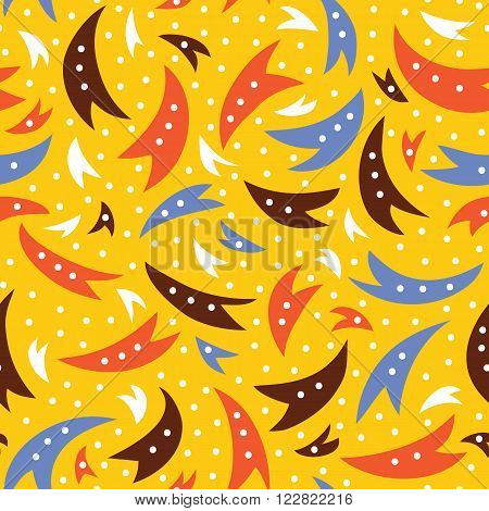 abstract tails doodle pattern of space collection. Seamless vector doodle hand drawn pattern with abstract tails