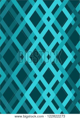 Vector seamless pattern. Blue Modern stylish texture. Repeating geometric tiles with smooth rhombuses