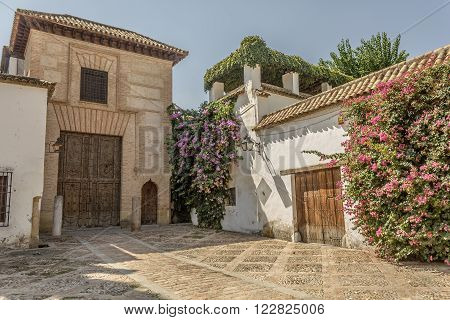 Facade of the House of the Jew in the Jewish quarter in Cordoba - Spain