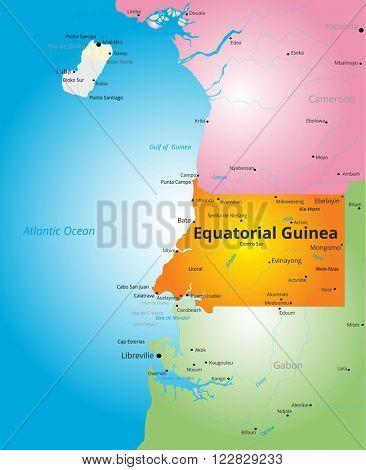 color map of Equatorial Guinea