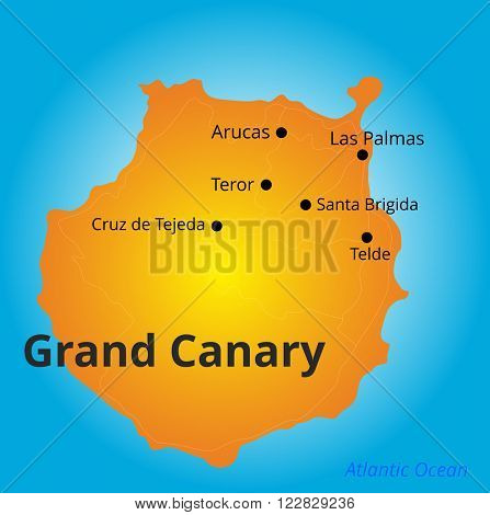 color map of Grand Canary