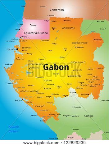 color map of Gabon