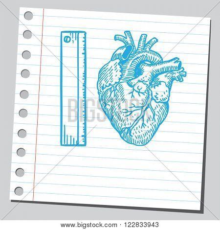 Heart measuring