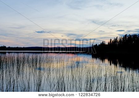 Sunset On Burnfield Lake