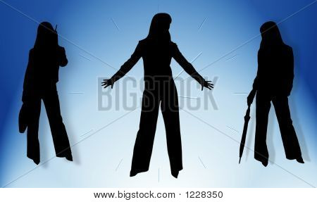 Silhouettes Of Business Ladies