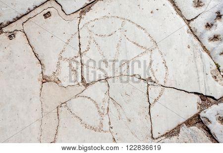 Ancient Christian Circle Symbol In Turkey