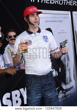 LOS ANGELES - MAR 03:  Sacha Baron Cohen arrives to the