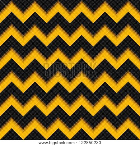 Black And Yellow Background 3D, Fiber Zigzag Seamless Pattern, Modern Carbon Texture Fabric