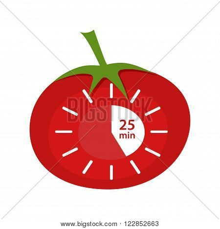 Classic Pomodoro Timer Icon. Vector illustration technique Pomodoro