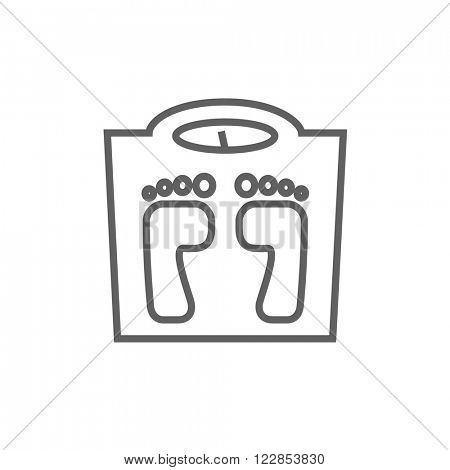 Weighing scale line icon.