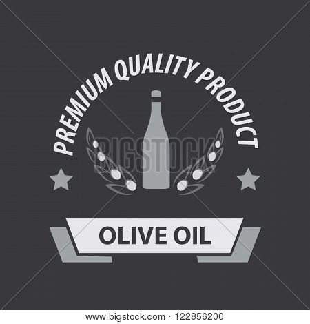 Olive Oil Premium Quality Product. Vector Illustration