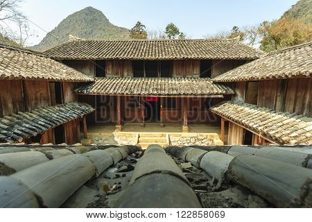 Old building at Sa Phin Town in Ha giang province, Vietnam