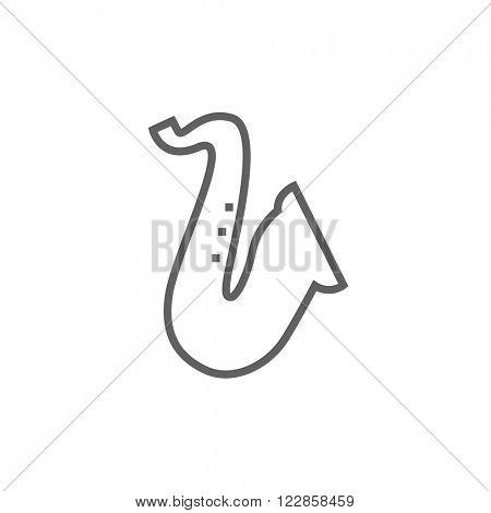Saxophone line icon.