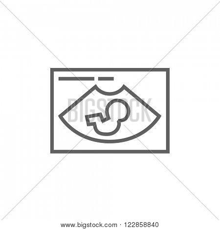 Fetal ultrasound line icon.