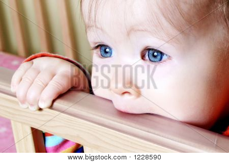 Baby In Standing In Crib
