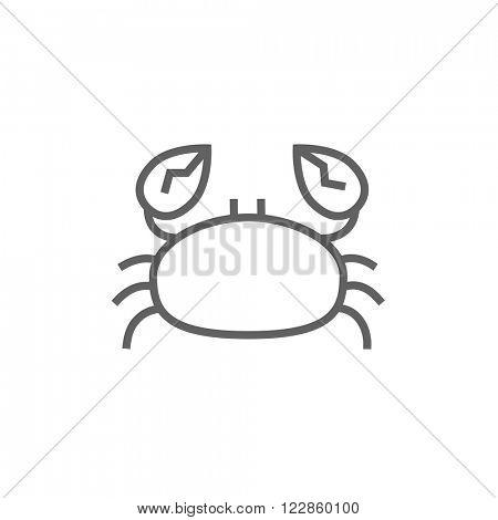 Crab line icon.