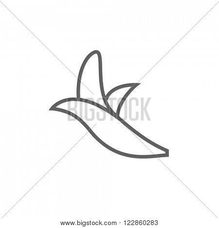 Peeled banana line icon.