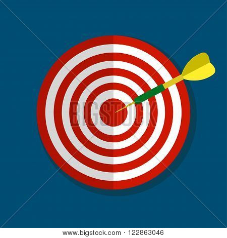 Flat target with arrow flat icon for apps and websites , business aims, smart solutions, target ideas for business concept.