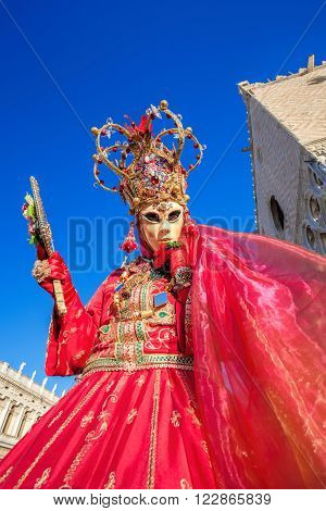 Beautiful Mask At Carnival In Venice,italy