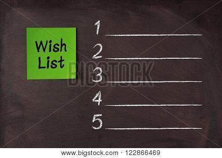 Blank Wish List