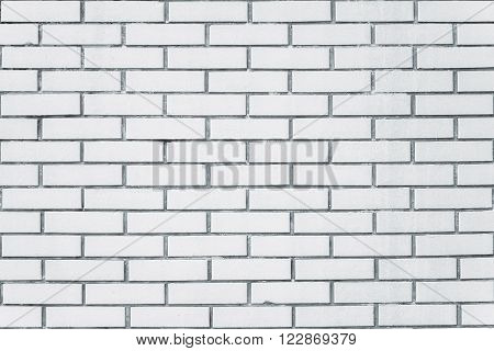 Exposed white vintage brick wall texture brickwork pattern as background