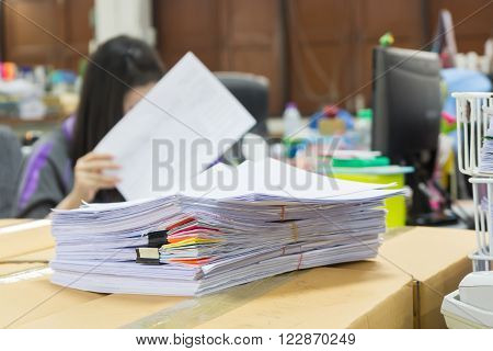 Stack of business papers, Office pape rwork