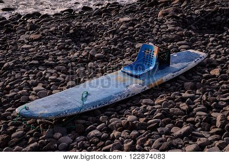 Handmade Modified Surf Board into a Kayak Boat