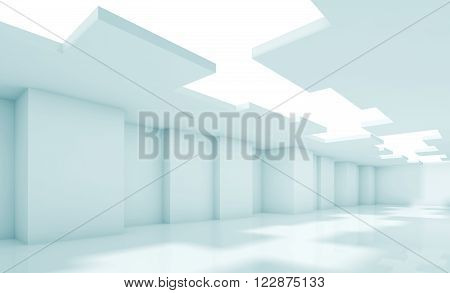 Architecture Background, Blue Toned 3D Render