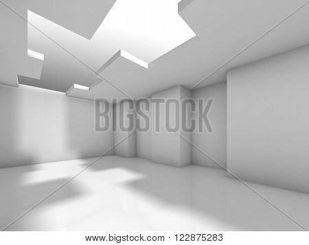 Abstract White Empty Interior, Digital 3D