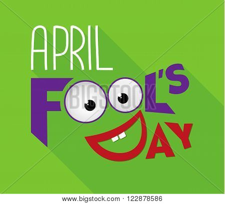 April Fool's Day Typography Design Vector Illustration