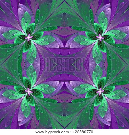 Pattern in stained-glass window style. You can use it for invitations notebook covers phone case postcards cards wallpapers and so on. Artwork for creative design art and entertainment.