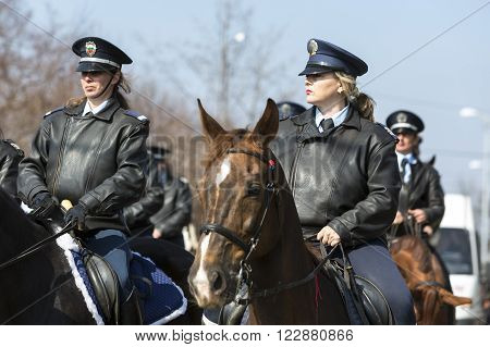 Horse Police Riding