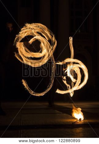 Earth Hour Fire Show Horizontal