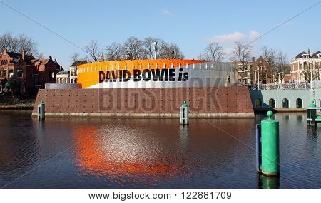 Groningen NETHERLANDS January-10-2016: Groninger Museum with an exhibition of David Bowie on the Museum island in the city of Groningen. The Netherlands