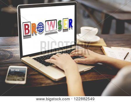 Browser Search Engine Online Technology Concept
