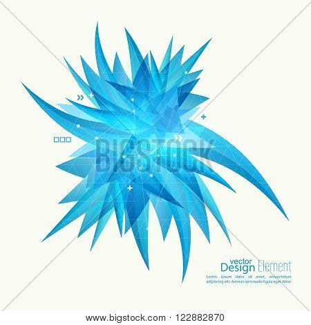 Abstract background with crystal virus. The concept of bio research, fight infections, viral diseases. For cover book, brochure, flyer, poster, magazine, booklet, leaflet