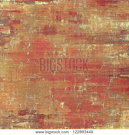 Retro style abstract background, aged graphic texture with different color patterns: yellow (beige); brown; red (orange); gray; pink