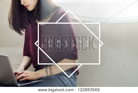 Online Shopping E-business Technology Shop Online Concept