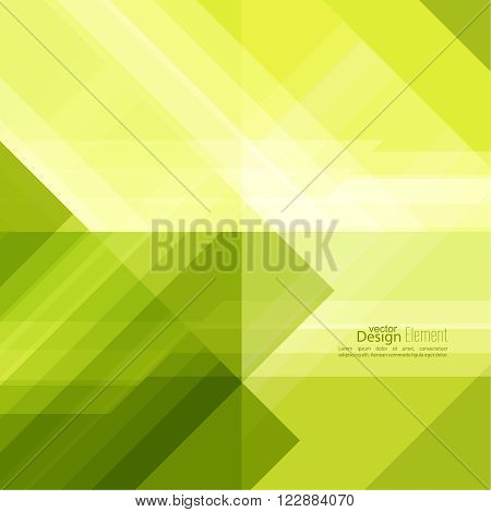Abstract background with green stripes corner. Concept new technology and dynamic motion. Digital Data Visualization. For cover book, brochure, flyer, poster, magazine, booklet, leaflet