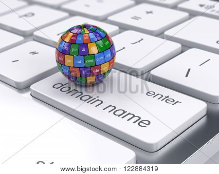 Color Cubes In The Sphere Shape Domain Names