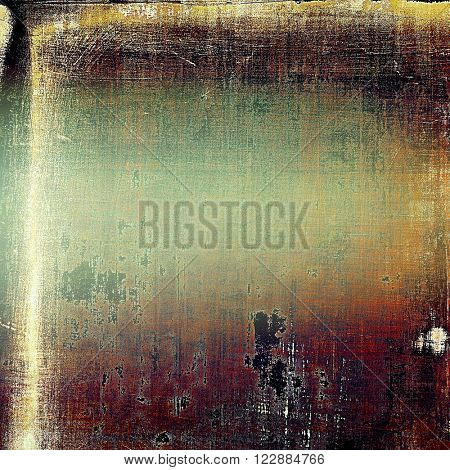 Retro style grunge background, mottled vintage texture. With different color patterns: yellow (beige); brown; purple (violet); red (orange); cyan