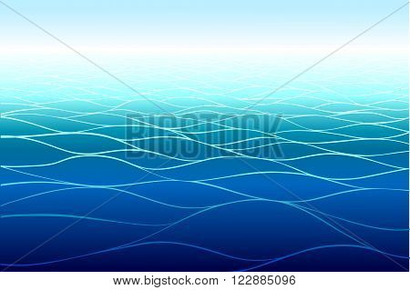 Sea background made in vector. Horizontal pattern.