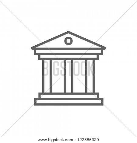 Museum line icon.