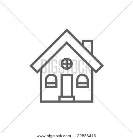 Detached house line icon.