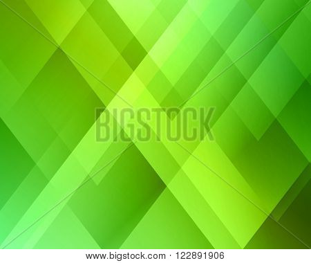 Abstract light background. Green triangle pattern. Green triangular background