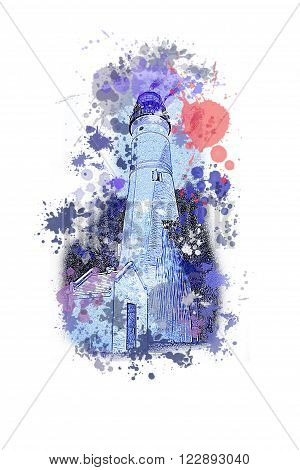 This is a lighthouse, in a, artis version.